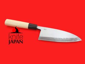 "Okubo Kajiya Kataha Deba-bocho | 165mm・6½"" | Aogami#2 | Knife Japan"
