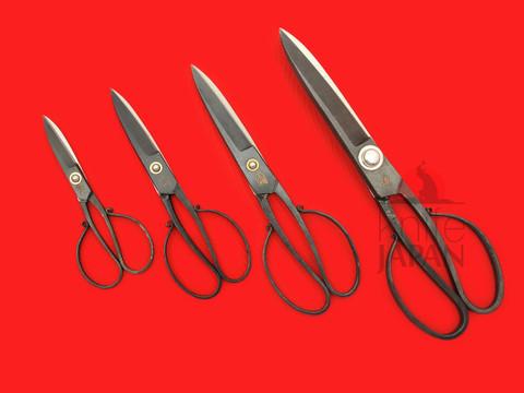 Ikenami Hamono scissors | hand-forged Shirogami#1 carbon steel | Knife Japan
