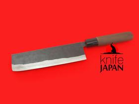 "Nakamura Hamono | Nojiyama Marunaka nakiri-bocho | 180mm・7"" | Stainless-clad Aogami#2  | Knife Japan"