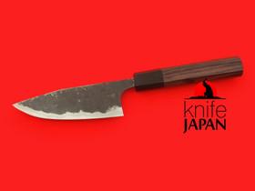 "Kuwahara Kaji Kobo | Black-forged Kayaki Petty Knife | 120mm・4¾"" | Knife Japan"