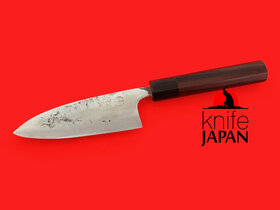 "Kuwahara Kaji Kobo Nagasaki | Stainless-clad Gunkanjima Deba-bocho | 135mm・5⅓"" | Knife Japan"