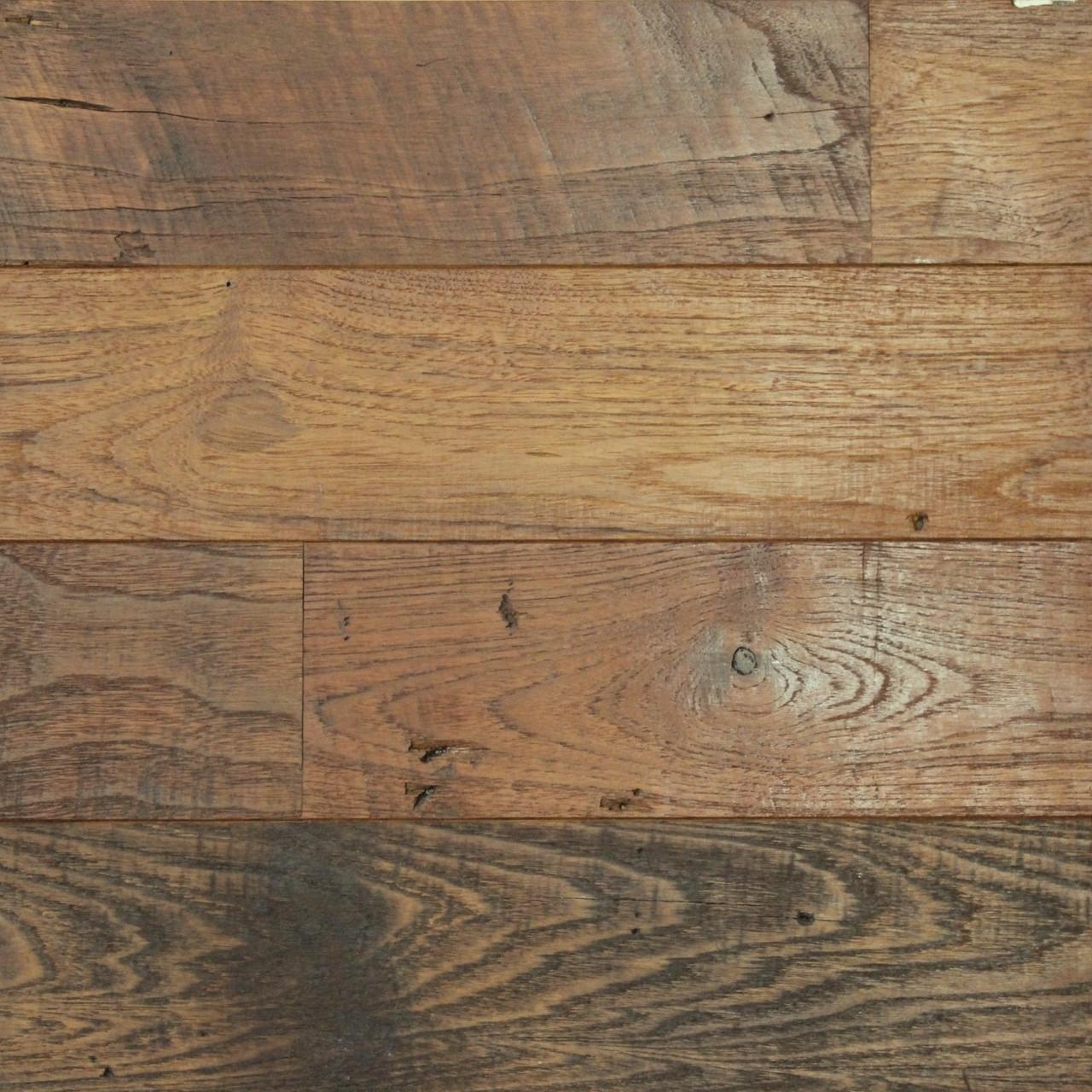 Naked Teak Engineered Flooring Paneling Sample
