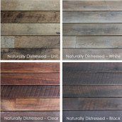 Naturally Distressed Long Plank Teak Siding (Sample)