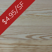 Pine Bleacher Stock Flooring & Paneling - Unfinished (Closeout)