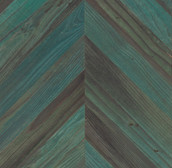 Lost Coast Redwood Weathered Paneling - Chevron - Copper Patina (Sample)