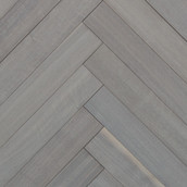 MC Walnut Engineered Herringbone Flooring & Paneling - Oyster Wash