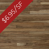 Teak Metro Solid Flooring & Paneling - Wire Brushed & Unfinished (Closeout)