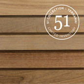 "Teak Rails 1-9/16"" - Unfinished (51 Collection)"