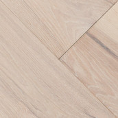 "Wide Plank Hickory 7"" Engineered Flooring & Paneling - Arctic Fox (Sample)"