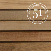 "Teak Rails 1-3/4"" - Unfinished (51 Collection)"