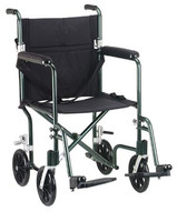 DRIVE MEDICAL DELUXE FLY-WEIGHT DELUXE ALUMINUM TRANSPORT CHAIR FW19GR