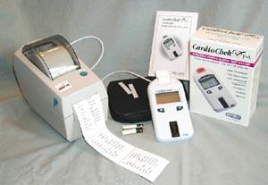 POLYMER TECHNOLOGY CARDIOCHEK P-A 2161 PORTABLE WHOLE BLOOD TEST SYSTEM