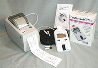 POLYMER TECHNOLOGY CARDIOCHEK P-A 2161 PORTABLE WHOLE BLOOD TEST SYSTEM