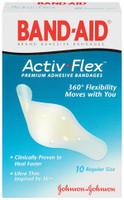 J&J BAND-AIDADHESIVE BANDAGE ACTIV FLEX 004414