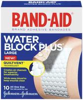 J&J BAND-AIDWATER BLOCK PLUSADHESIVE BANDAGES 005658