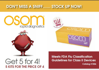 SEKISUI 1006 OSOM ULTRA FLU TEST GET 5 KITS FOR THE PRICE OF 4