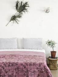 Rose Farmhouse Kantha Quilt