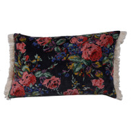 Black floral small pillow case