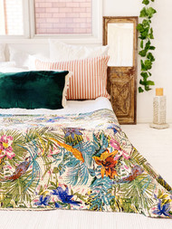 Amazonia Rainforest  Kantha Quilt