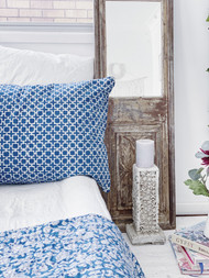 Indigo Hamptons Tic Toc  Pillowcase