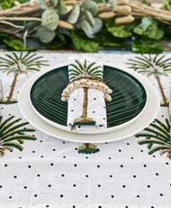 Polka Dot Palm Tree Napkins -Set of 4