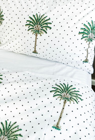 Summer Polka Dot Palm Tree Pillow Case