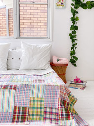 Burleigh Patchwork Kantha Quilt -Double Size