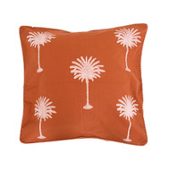 Rust Palm Trees Euro Cushion Cover