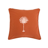 Rust Palm Tree Cushion Cover