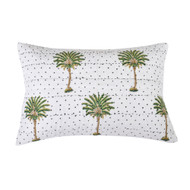 Summer Polka Dot Palm Quilted Pillowcase