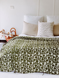 Sage Gumnuts Quilt Cover - Double