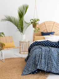 Indigo Hamptons Moroccan Quilt Cover -Single