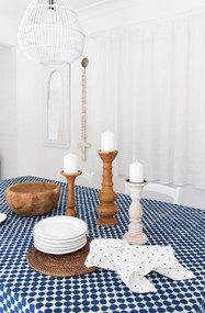 Indigo Dots Square Tablecloth