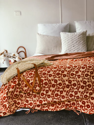 Teracotta  Gumnuts King Quilt Cover
