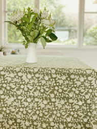 Sage Green Floral Square Tablecloth