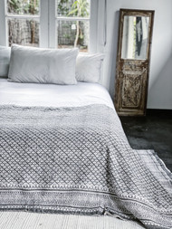 Olive Chateau Kantha Quilt