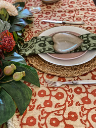 Terracotta Gumnuts Square Tablecloth (180 X180 cm)