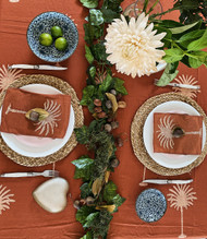 Rust Palm Trees Square Tablecloth
