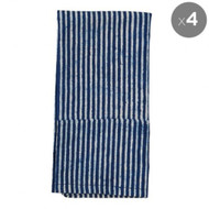 Indigo Hamptons Stripes  Napkins | Peacocks and Paisleys