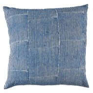 Indigo Stripes Hamptons Euro Cushion Cover | Peacocks and Paisleys