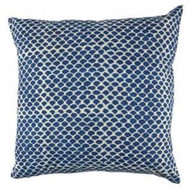 Indigo Fish Scales Euro Cushion Cover| Peacocks and Paisleys