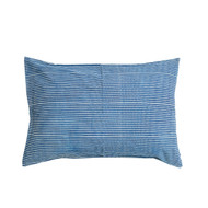 Indigo Hamptons Stripes Pillow Case | Peacocks and Paisleys