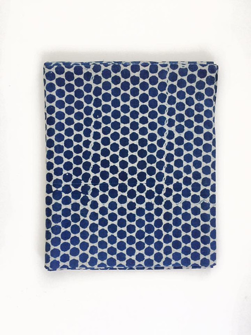 Indigo Dots Tablecloth | Peacocks and Paisleys