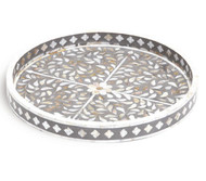Grey Mother of Pearl Bone Inlay Tray