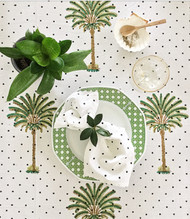 Polka Dots Palm Tree Tablecloth | Peacocks and Paisleys