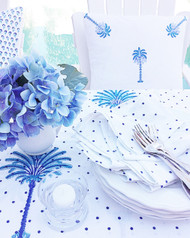 Indigo Spots Napkins -Set of 4| Peacocks and Paisleys