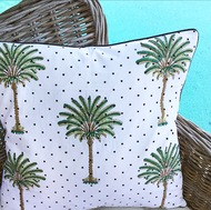 Polka Dot Palm Tree Cushion Cover | Peacocks and Paisleys
