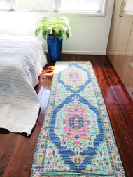 Indian Summer  Upcycled Rug Runner -preorders open