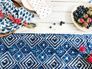 Indigo Aztec Table Runner