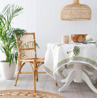 Polka Dot Palm Tree Square Tablecloth (180 X180 cm)